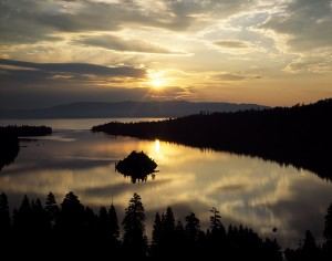 Silver Lining, Sunrise, Emerald Bay, Lake Tahoe.